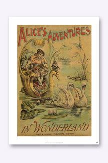 Bookish Designs Alice In Wonderland Wall Art. I just love Alice in Wonderland illustrations.