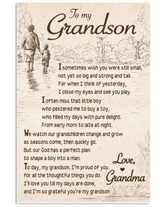 Shop for unique Grandson apparel and homegoods on CoolGrandmaStore. Find the perfect Grandson t-shirts, mugs, posters, phone cases, and more. Grandson Quotes, Grandkids Quotes, Daughter Quotes, My Children Quotes, Quotes For Kids, Sign Quotes, Me Quotes, I Thought Of You Today, Bob Marley