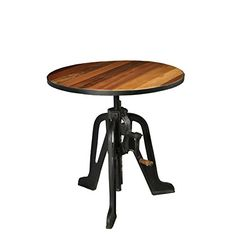 Aurelle Home Adjustable Rustic Antique Bar Table