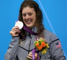 Allison Schmitt - Born 1990 in Pgh. Started swimming at age 9. Four-time NCAA champ in 200- & 500-yard freestyle at Univ. of Mich. Won bronze medal in  4x200m freestyle relay at 2008 Olympics. Won five medals at 2012 Olympics: gold in 200m freestyle, new Olympic record; gold in 4x200m freestyle relay; gold in 4x100m medley relay, new world record; silver in 400m freestyle; and bronze in 4x100m freestyle relay. Has won 14 medals in major int'l competitions - 9 gold, 3 silver & 2 bronze.