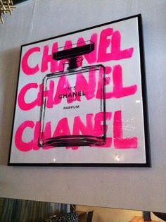 Chanel uploaded by Bows_Beauty on We Heart It chanel, pink typography, free handed, decoration, edgy Tableau Pop Art, Mode Poster, Room Decor, Wall Decor, Diy Wall, Glam Room, Beauty Room, My New Room, Wall Collage