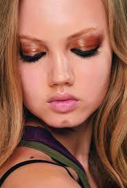 Image result for bronze/red eye makeup