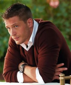 hellllooo tom hardy ;) only repinning this cause this is how I want to cut my sons hair..and Tom is adorable! ;)