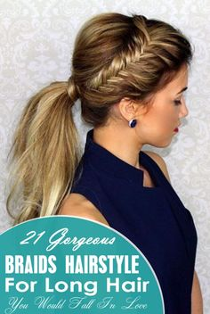 Dutch Braided Headband   Hair Tutorials   Pinterest   Ponytail  Side     19 Gorgeous Braids Hairstyle For Long Hair You Would Fall In Love
