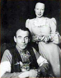 Louis-Ferdinand Céline et sa femme Lucette et Bébert le chat