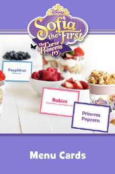 Sofia the First - The Curse of Princess Ivy - Activity - Menu Cards