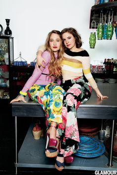 Lena Dunham and Jemima Kirke. I absolutely adore them!