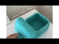 The most beautiful Crochet basket and straw models Crochet Bowl, Crochet Basket Pattern, Quick Crochet, Love Crochet, Beautiful Crochet, Knit Crochet, Crochet Baskets, Crochet Crafts, Crochet Squares