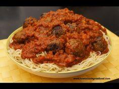 Meatballs Tomato sauce  & Spaghetti recipe How to cook GREAT food MEAT BALLS Italian minced beef