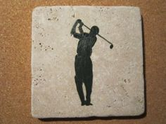 Golfer in dark green