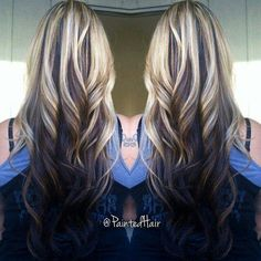 Reverse ombre for people with tok much crap in their ends to do real ombre
