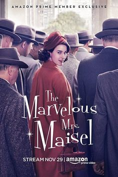 The Marvelous Mrs. Maisel / S: 1 / Ep. 8 / Comedy / Drama / Stars: Rachel Brosnahan, Matteo Pascale, Matilda Szydagis, Tony Shalhoub / A housewife in the early decides to become a stand-up comic Rachel Brosnahan, Upper West Side, Movies To Watch, Good Movies, Movies Box, Film Vf, Film Movie, Comedy Film, Agatha Christie
