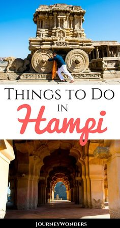Visiting Hampi can be quite overwhelming since there's way too many temples and things to do and see. Here's a selection of the best places to visit in Hampi, Karnataka #India #IncredibleIndia #Hampi #Karnataka
