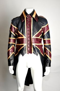 Union Jack Mens Leather Diamond Jubilee Exclusive Steampunk Tail coat Impero London. $4,580.00, via Etsy - there is no way in hell I would ever buy this, but it's so pretty.