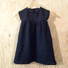 Inspiration for hand stitching on the Oliver + S Playtime Dress