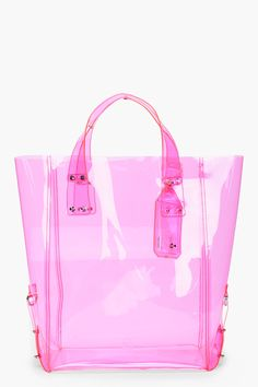Mcq Alexander Mcqueen Pink Kingsland Vinyl Shopping Tote (Perfect For Summer Days Pool Parties/Beach! Pink Love, Pretty In Pink, Pink And Green, Purple, Katie Holmes, Alexander Mcqueen Bag, Camilla Belle, Pink Summer, Summer Time