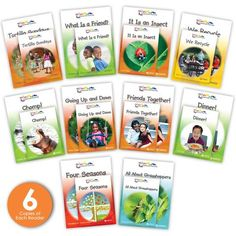 The Kaleidoscope Collection Big Book Set 2 Combo contains a copy of each of the second 10 big books in the Kaleidoscope Collection, plus 6 copies of each matching leveled reader, for a total of 10 big books and 60 small books. These captivating narrative and informational big books are great resources to optimize during shared reading and whole group activities. Guided reading level range: A–E. Text Complexity, Leveled Readers, Social Themes, Guided Reading Levels, Big Books, Shared Reading, Small Book, First Grade Classroom, Group Activities