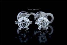 Round Cut Diamond, Round Diamonds, Diamond Cuts, Solitaire Earrings, Diamond Earrings, Diamond Jewelry, Heart Ring, Diamond Jewellery, Heart Rings