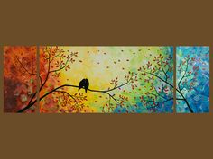 Landscape Love Birds Tree Branches