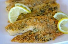 T.C.'s HCG Phase 2 Baked Tilapia- Super YummY! 3 1/2 oz Tilapia, 1/2 lemon (optional), Topping: 1 crushed melba toast, spices-onion, mustard & garlic powder, paprika), parchment paper. Preheat oven 350° Try the parchment paper in place of Pam. Use fingers to place the breadcrumb mixture on rinsed fish. The water helps the mixture stick to the fish. Sprinkle a little water on top of the mixture to aid in cooking. Bake for approximately 30 minutes and it is done when you can flake the fish…