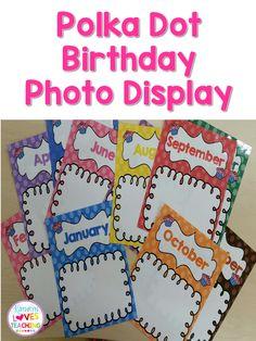 FREEBIE Birthday Photo Display