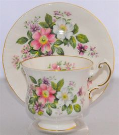 Paragon Flower Festival Teacup and Saucer.(England) Floral Tea Cup