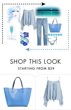 """sUMMER bLUES"" by anja264 ❤ liked on Polyvore featuring Merona, Sans Souci and White House Black Market"