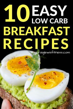Looking for keto or low carb breakfast ideas? If so, then these 10 easy low carb breakfast ideas are perfect for you. These quick and tasty recipes are perfect for busy mornings Low Carb Breakfast Easy, Healthy Breakfast For Weight Loss, Breakfast Recipes, Breakfast Ideas, Breakfast Cereal, Breakfast Gravy, Detox Breakfast, Ketogenic Breakfast, Breakfast Salad