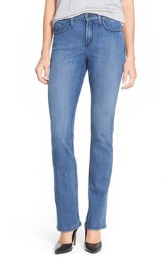 NYDJ 'Hayley' Stretch Straight Leg Jeans (Newberry) (Regular & Petite) available at #Nordstrom-$124.00