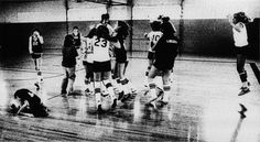 Photographer/Creator  Dave LaBelle  Collection  1979  Publisher  Chanute Tribune  Caption/Description  It was the last game of the season for both junior high school girls basketball teams. One from Chanute, KS, the other from Parsons, KS. The jubilant Parsons team overcame a six point overtime deficit to win the contest by a point. In tears the Chanute team members are sick and frustrated at their failure for first place in the league's championship tourney.