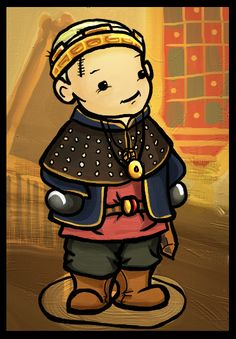 A little chibi Uther! Sooo cute, I can't stand it! Prince Arthur, Merlin Colin Morgan, Bbc Tv Series, Chibi, At Least, Lonely, Geek, Fan Art, Magic
