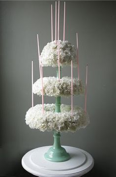 "COMFORT & LUXURY: January 2010 - a ""cake"" made out of flowers."