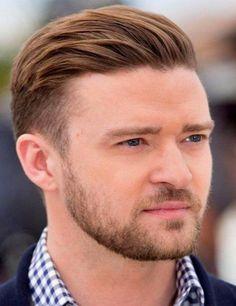 Slicked Back Men Hairstyle Elegant Handsome Summer 2017