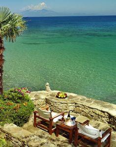 seaside in Greece by drimeris