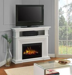Corner Tv Stand With Fireplace Home Depot.Home Decorators Collection Bow Front TV Stand Infrared . Furniture: Alluring Tv Stand With Fireplace For Living . Home and Family Small Electric Fireplace Heater, White Corner Electric Fireplace, Fireplace Heater Tv Stand, Corner Fireplace Tv Stand, Fireplace Media Console, White Fireplace, Fireplace Design, Electric Fireplaces, Gas Fireplace