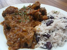 curried-goat with rice and peas travel irie jamaica