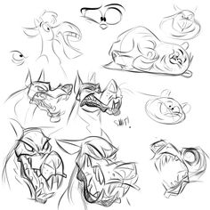 Random Design Studies - by SuperStinkWarrior Inspired heavily by the ultra talented polartoons and a smooshy pose from another megatalent, thedoggygal  Your work rocks so fucking hard! Must study you mofo's more!!!