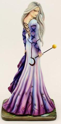 Jessica Galbreth Beautiful Fairies at Magical Omaha Fairy Statues, Fairy Figurines, Moon Fairy, Fairies Photos, Fantasy Art Women, Fantasy Dragon, Wedding Dress Accessories, Beautiful Fairies, Mini Paintings