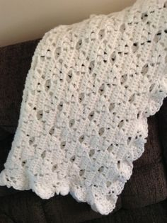 Crochet White baby blanket To order or see more items please visit https://www.facebook.com/Brandyscutecrochetcreation?ref=bookmarks