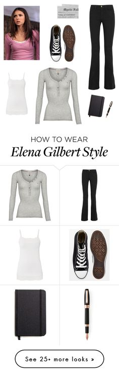 """Elena Gilbert "" by whitneyhodges on Polyvore featuring Tommy Hilfiger, maurices, Frame Denim, Converse, Shinola and Montegrappa"