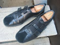 CALVIN KLEIN Black Leather Athletic Inspired Shoes 10.5 #CalvinKlein #Oxfords
