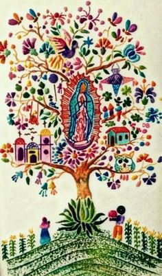 Our Lady of Guadalupe Mexicanos Guadalupanos Catholic Art, Religious Art, Madonna, Saint Esprit, Queen Of Heaven, Blessed Mother Mary, Mary And Jesus, Cross Stitch Art, Holy Mary