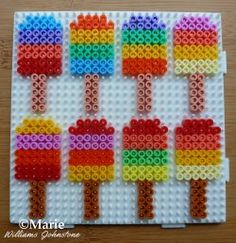 """Perler Bead Popsicle - goes along with the theme """"taste and see that the Lord is good"""""""