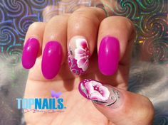 Nail art with enamel and acrylic paints - Nail Art Gallery