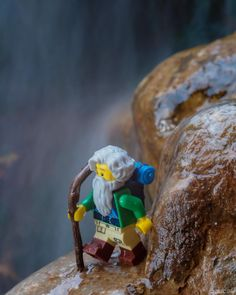 Hiking through the spring snowmelt can be a bit treacherous.  It's good to have a sturdy walking stick. . #jimbricksters #hiking #outdoors  #olympusem5 #lego #waterfall #longexposureshots #cedarcity #minifiguresbigworld #afol #legominifigures #toyslagram_lego #instalego #legostagram #brickcentral #legoart #legography #legogram #joecowlego #brickpichub #bricknetwork #toyartistry_lego #lego_hub #brickshift #vitruvianbrix #stuckinplastic #brickculture #toy_photographers #utahtoycrew