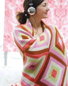 Diamond Afghan Knitting Pattern