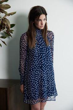 LISETTE IMAN PRINTED CHIFFON DRESS by Velvet by Graham & Spencer