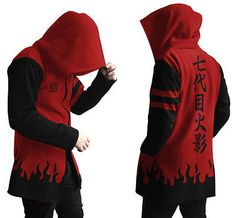 NARUTO RED SAGE MODE JACKET HOODIE COSPLAY in Collectibles,Animation Art & Characters,Japanese, Anime | eBay
