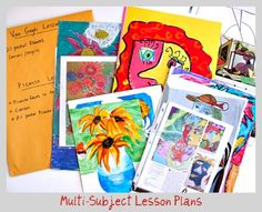 How to organize and store art lessons for home or school. Art Organization tips from Deep Space Sparkle