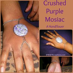 CRUSHED PURPLE MOSAIC Handflower by EYESEYEcreations on Etsy, $13.00 Hand Flowers, Alex And Ani Charms, Diamond Earrings, Mosaic, Diamond Studs, Mosaics, Diamond Drop Earrings, Mosaic Art, Tile Mosaics